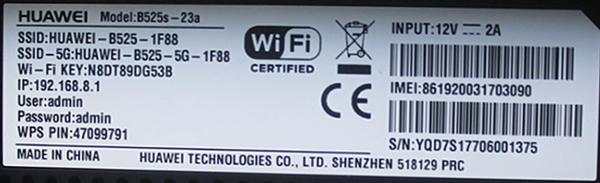 Huawei B525 (Modem, Wi-Fi 4G) | Elisa Eesti